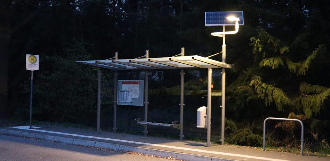 Beleuchtung Bushaltestelle